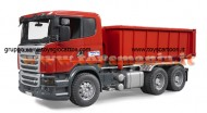Bruder 03522  Scania R-Series camion container ribaltabile [ cod 03522 ] scala 1/16