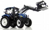 UNIVERSAL HOBBIES NEW HOLLAND T6020 CON CARICATORE FRONTALE COD 2863 SCALA 1/32