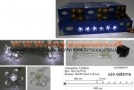 !!!! LUCI DI NATALE A LED !!!! FILO LUCI A LED 12 FIORE LED BIANCA- BIANCO USO ESTERNO 8033113288371