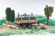 Bruder giocattoli Rimorchio trasporto tronchi scala 1/32 [ cod 02213]