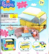 PAPA PIG , MAMMA PIG , PEPPA PIG, GEORGE PIG , COMPLETI DI CAMPER MULTIFUNZIONE CCP02256