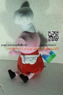 PELUCHE PEPPA PIG VESTITA DA CUOCA ( SHEFF  ) CIRCA 35 CM