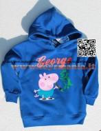 Felpa Maglia George con dinosauro Peppa Pig con cappuccio  Originale colore blu