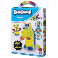 Crea Bunchems DRAGON -DRAGONS GLOW'N THE DARK - BRILLANO AL BUIO  PHOSPHORESCENTS - BRILLANO AL BUIO