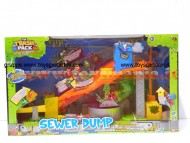 THE TRASH PACK DISCARICA CON PISCINA DI SLIME - PLAYSET SEWER DUMP NCR68040