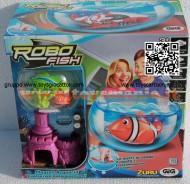 ROBO FISH TROPICAL MODELLO PESCE VERDE BIANCO CON CASTELLO E AQUARIO NCR 02242