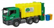 Camion Man Tgs Trasporto Rifiuti verde/giallo caricamento posteriore Bruder 03764