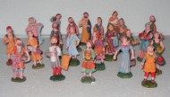 statuine da presepe in plastica 10 cm - 24 pezzi - 1 scatola assortita - versione economia 8033113004698