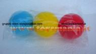 palla tipo tennis in spugna circa 8 cm color blu gialla rossa 3 pezzi giocattoli  adatta anche per fare riabilitazione dopo intervento alle mani