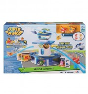 Set Gioco SUPER WINGS Torre di Controllo con Luci e Suoni con Personaggi Jett e Donnie di Super Wings UPW06000