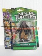Nuovi personaggi tartarughe ninja tratto dal film in uscita a Settembre ! Personaggio Splinter cm 10 ninja turtles cod. 90850 Giochi Preziosi