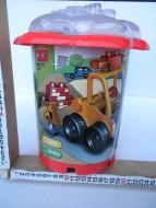 BARATTOLO CON COSTRUZIONI TIPO LEGO DUPLO !! ALL'INTERNO VI SONO 32 PEZZI DI COSTRUZIONI E 2 FIGURE COD.C