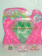 JEWELPET !!!!! JEWEL LIP GLOSS !!!!BRACCIALETTO COLOR VERDE CON JEWELPET E 1 LIP GLOSS COD 12243