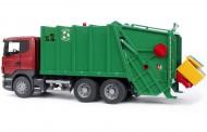BRUDER - CAMION SCANIA TRASPORTO RIFIUTI CARICO POSTERIORE Camion Trasporto Rifiuti Scania R Rosso-Verde COD 03561 fuori produzione ultimo pezzo