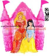 grabo pallone e castle delle principesse sgonfio gonfiabile a elio ,completo di corda