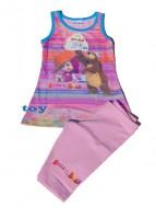MASHA E ORSO Maglia - MAGLIETTA - T-SHIRT Vestito CANOTTA + PINOCCHIETTO bambina 7 anni art.SC08 rosa