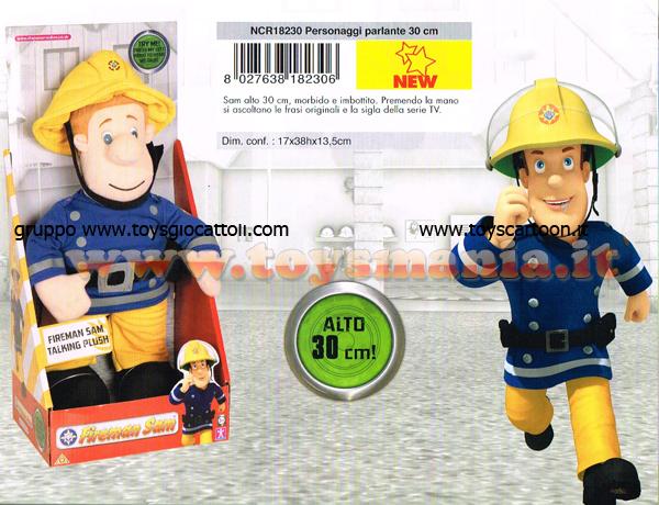 Elicottero Sam Il Pompiere : Sam il pompiere peluche parlante circa cm in box ncr