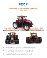 UNIVERSAL HOBBIES LIMITED EDITION PES CREATION 011 MODELLO NEW HOLLAND T7.210 RUOTE GEMMELLATE COLOR TERRA COTTA