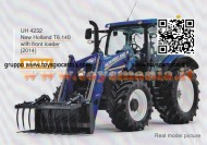 UNIVERSAL HOBBIES TRATTORE NEW HOLLAND CON PALA FRONTALE T6.140 (2014) SCALA 1/32 COD 4232