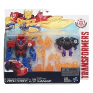 Transformers Rid Minicon Battle Packs Optimus Prime vs. Bludgeon B4713- B4714 di Hasbro