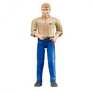 Bruder 60006 - Bruder bworld personaggio Uomo Pelle Chiara con Jeans