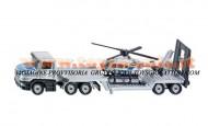 siku modellino camion trasporta elicottero in metallo in scala 1/87