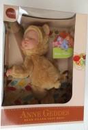 nuovo modello Anne Geddes , Bambola- ORSO CHIARO cm.23 BABY BEARS