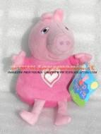!!!! Peluche Peppa Pig !!!! PUPAZZO PELUCHE PEPPA PIG PERSONAGGIO PEPPA PIG CON PIGIAMA CUORE ALTEZZA CIRCA  33 CM toys , BRINQUEDOS ,JUGUETES , JOUETS , giocattoli !!PEPPA PIG