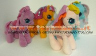 PELUCHE MY LITTLE PONY SET 4 PELUCHE Scootaloo , Pinkie Pie , TOOLA ROOLA ,  Rainbow Dash MIO MINI PONI CM 32 CIRCA
