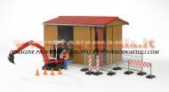 !!!! BRUDER NOVITA' !!!! bworld sala macchina di costruzione con l'uomo, escavatore Schaeff e accessori [cod 62020]