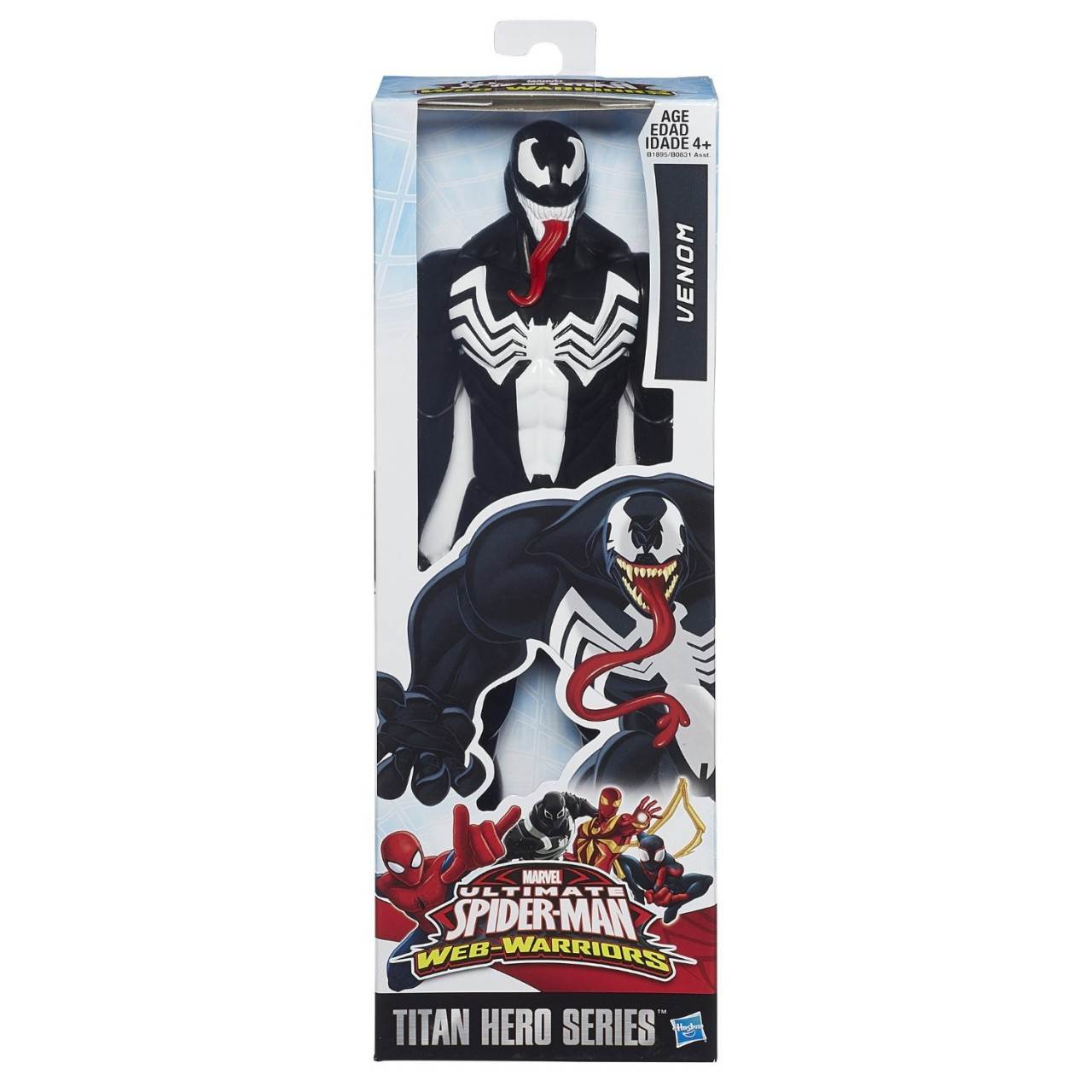 marvel ultimate spider man titan hero series venom 30 cm action figura di hasbro b0831 toys