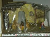 Millenium Christmas. presepe Casa dettagliata con le statuine della sacra famiglia. cod.350