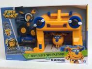NEW SUPER WINGS Donnie, Aereo Robot Personaggio con Hungar officina , GIOCATTOLO ORIGINALE GIOCHI PREZIOSI TOYS