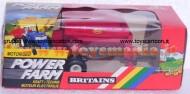 BRITAINS MOTORIZED  POWER FARM RIMORCHIO VICON TOWED VARI SPREADER SCALA 1/32 CON GIUNTI CARDANI NELLA CONFEZIONE COD 9341