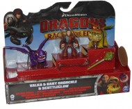 Dragons Trainer Race Of The Edge figura VALKA E BABY CRONCKLE E SCUTTLECLAW 66954-1
