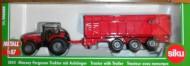 Siku modellino trattore Massey Ferguson con rimorchio