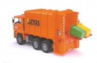 Bruder nettezza extraurbana Bruder MAN TGA trasporto rifiuti con caricaricamento posteriore (arancio)scala 1/16 [ cod 02762 ]