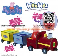 Peppa Pig Weebles il treno gertrude traballante del nonno Pull-Along train con Weeble Peppa personaggio cod ch 05119