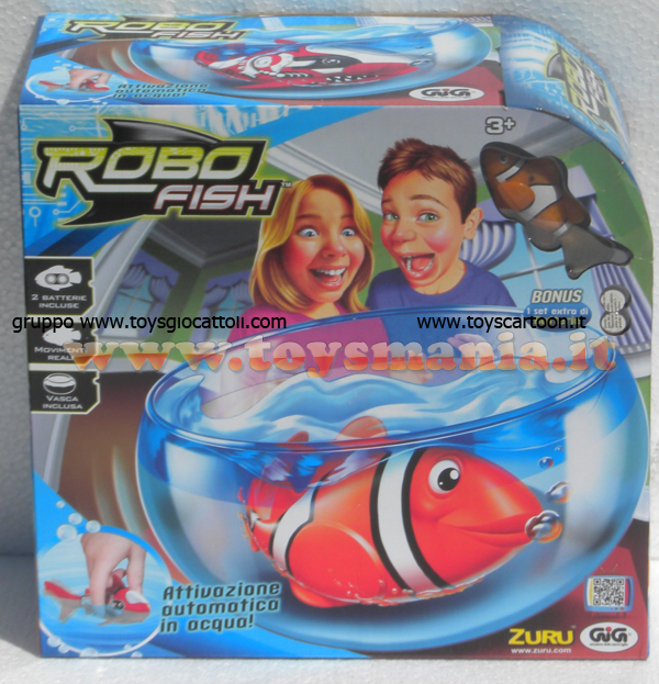 Robot fish giocattolo toys robot pesce robo fish for Robo fish tank