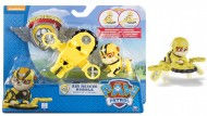 Spinmaster 20071466 - Air Rescue Rubble Ruben Paw Patrol Action Pack Pup & Badge NUOVO MODELLO
