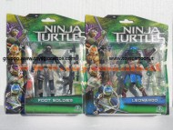 Nuovi personaggi tartarughe ninja tratto dal film in uscita a Settembre ! Offerta 2 personaggi Leonardo e Foot Soldier cm 10 ninja turtles cod. 90850 Giochi Preziosi