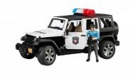 Jeep Wrangler Unlimited Rubicon della Polizia, con poliziotto 02526 Bruder
