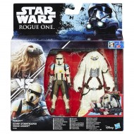 Star Wars Rogue One Scarif Stormtrooper and Moroff Deluxe Pack Figure B7261-B7073