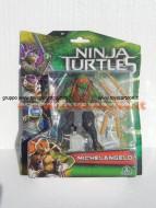 Nuovi personaggi tartarughe ninja tratto dal film in uscita a Settembre ! Personaggio Michelangelo cm 10 ninja turtles cod. 90850 Giochi Preziosi