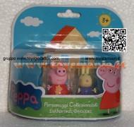 PEPPA PIG BLISTER 2° SERIE MODELLO FORMATO DA PEPPA PIG E REBECCA CONIGLIO CCP 04430