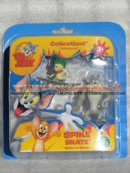 !!!! GIOCHI PREZIOSI TOM E JERRY !!! TOM and JERRY ACTION FIGURES  Tyke SULLO SKATEBOARD il figlio di Spike  BLISTER 2 PEZZI, COD CCP 15054
