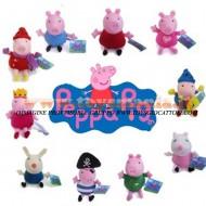 10 PELUCHE PEPPA PIG IL FRATELLO GEORGE PIG , Coniglio Richard Rabbit , Pecora Suzy Sheep E AMICI 19 cm CIRCA ORIGINALE UFFICIALE CARTONE ANIMATO GIOCATTOLI PELUCHE toys , BRINQUEDOS ,JUGUETES , JOUETS , giocattoli COD 089