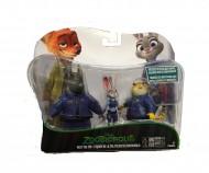 Zootropolis, Pack Polizia con 3 Personaggi di Tomy L70052