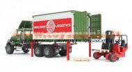 Bruder MACK Granite camion portacontainer con muletto[ cod 02820 ]