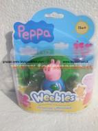 NOVITA' PEPPA PIG WEEBLES ! GEORGE PIG SEMPRE IN PIEDI DI GIOCHI PREZIOSI CON BASE AGGANCIABILE PER 18 M+ COD. 05110
